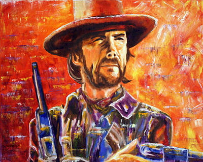 Poster featuring the painting Eastwood Josey Wales by Jennifer Godshalk