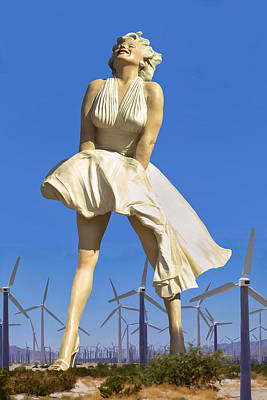 Cool Breeze Marilyn Palm Springs Poster
