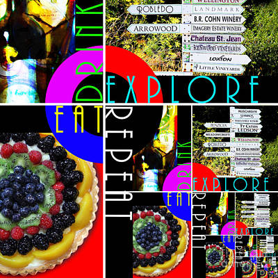 Eat Drink Explore Rep V2eat 20140713 Poster by Wingsdomain Art and Photography