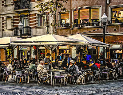 Poster featuring the photograph Eating Out In Barcelona by Brian Tarr
