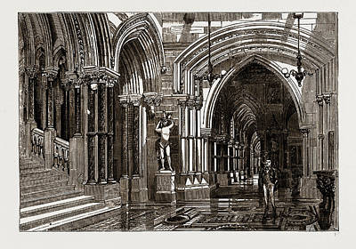Eaton Hall The Great Corridor And Staircase Poster by Litz Collection