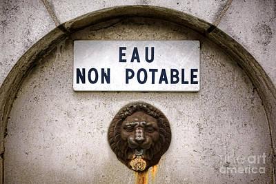 Eau Non Potable Poster by Olivier Le Queinec