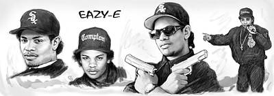 Eazy-e Art Drawing Sketch Poster Poster by Kim Wang