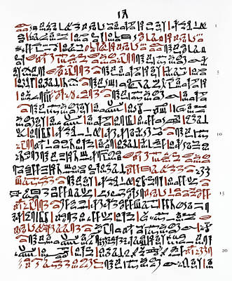 Ebers Papyrus, C1550 B.c Poster by Granger