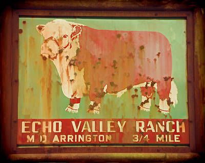 Echo Valley Ranch Stylized Poster