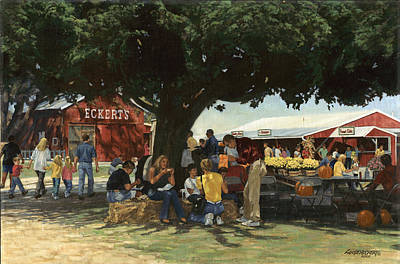 Eckert's Market Under Big Tree Poster