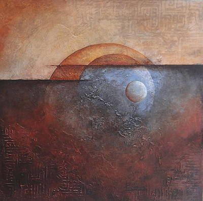 Poster featuring the painting Eclipse by Buck Buchheister