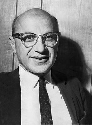 Economist Milton Friedman Poster by Underwood Archives