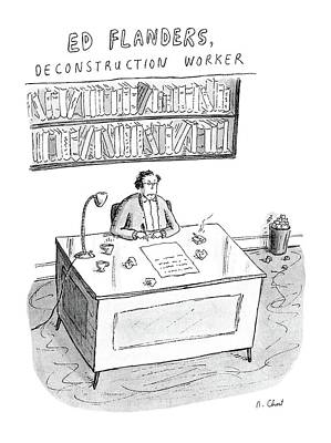 Ed Flanders Poster by Roz Chast