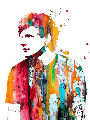 Ed Sheeran Poster by Watercolor Girl