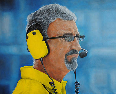 Poster featuring the painting Eddie Jordan by David Dunne
