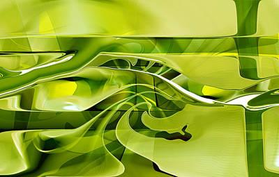Poster featuring the digital art Eden 1 - The Serpent by rd Erickson