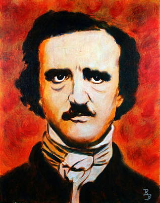 Poster featuring the painting Edgar Allan Poe by Bob Baker