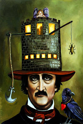 Edgar Allan Poe Edit 2 Poster by Leah Saulnier The Painting Maniac