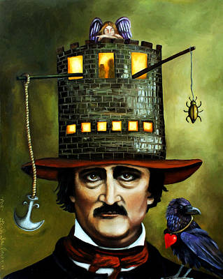 Edgar Allan Poe Edit 3 Poster by Leah Saulnier The Painting Maniac