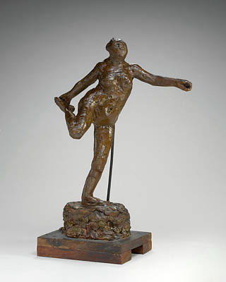 Edgar Degas, Dancer Holding Her Right Foot In Her Right Hand Poster by Quint Lox