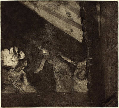 Edgar Degas French, 1834 - 1917, At The Cafe Des Poster by Quint Lox