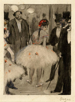 Edgar Degas, French 1834-1917, Virginie Being Admired While Poster
