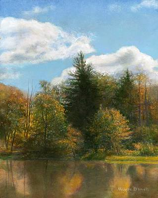 Poster featuring the painting Edge Of The Pond by Wayne Daniels