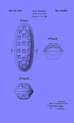 Edible Food Shell Patent 1940 Poster by Mountain Dreams