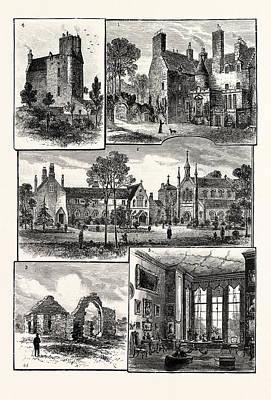 Edinburgh 1. Warrender House 2. St. Margarets Convent 3 Poster by English School