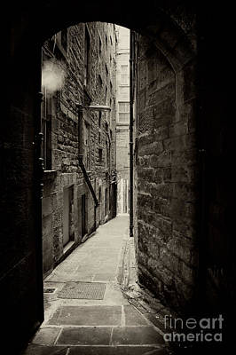 Edinburgh Alley Sepia Poster by Jane Rix