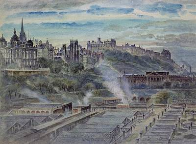 Edinburgh From Near St. Anthonys Chapel On The North-west Shoulder Of Arthurs Seat, 19th Century Poster