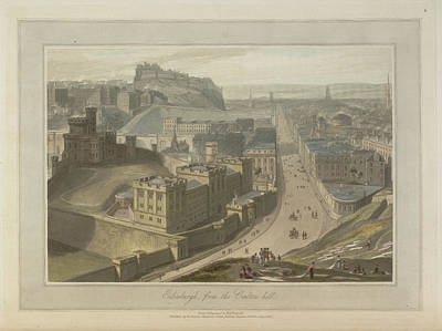 Edinburgh From The Carlton Hill Poster