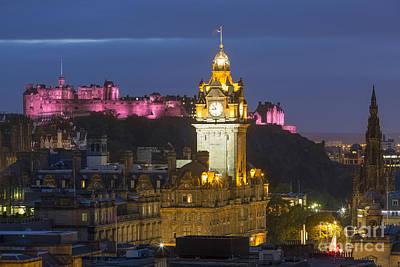 Edinburgh Night Poster by Brian Jannsen