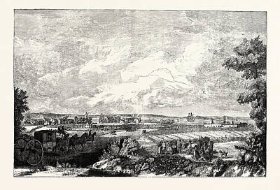 Edinburgh View Of Leith From The Eastern Road 1751 Poster by English School