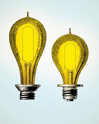 Edison Carbon Filament, Incandescent Poster