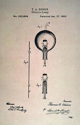 Edison Electric Lamp, 1880 Poster