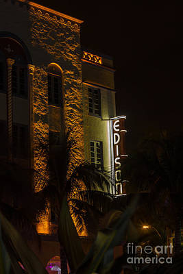 Edison Hotel South Beach Poster by Rene Triay Photography