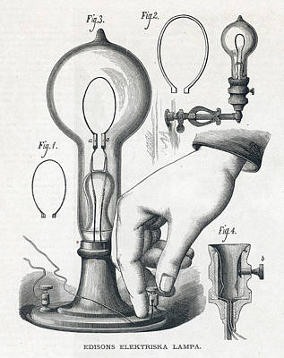 Edison's Electric Lamp Poster