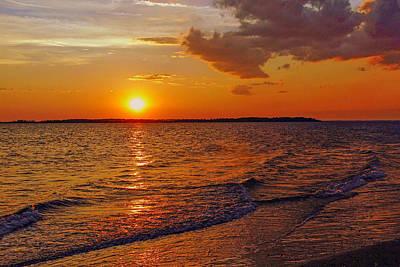 Edisto Island Sc Sunset Poster