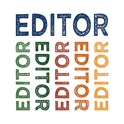 Editor Cute Colorful Poster by Flo Karp
