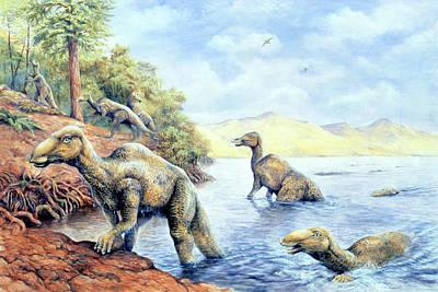 Edmontosaurus Dinosaurs Poster by Deagostini/uig
