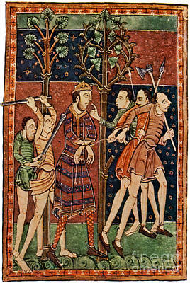 Edmund The Martyr, King Of East Anglia Poster by Photo Researchers