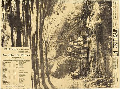 Edouard Vuillard French, 1868 - 1940, Au-delà Des Forces Poster