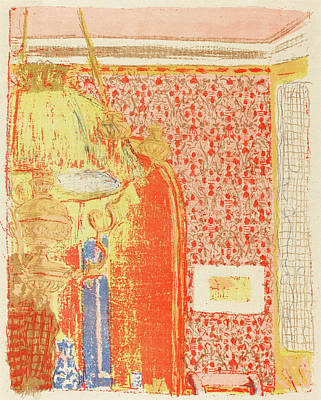 Edouard Vuillard French, 1868 - 1940, Interior With Pink Poster