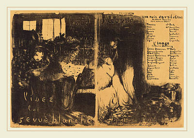 Edouard Vuillard French, 1868-1940, Lisez La Revue Blanche Poster