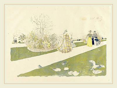 Edouard Vuillard French, 1868-1940, The Tuileries Garden Le Poster