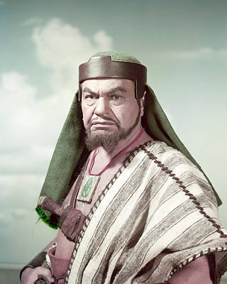 Edward G. Robinson In The Ten Commandments  Poster by Silver Screen