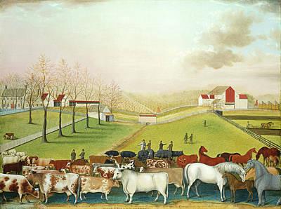 Edward Hicks American, 1780-1849, The Cornell Farm Poster