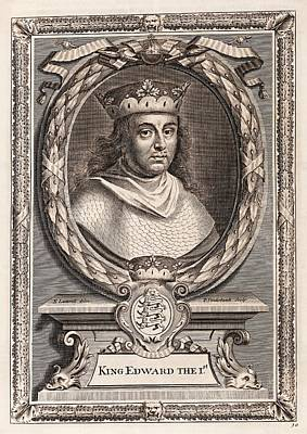 Edward I Poster by Middle Temple Library