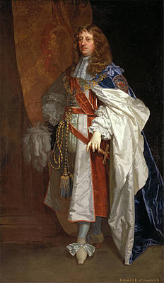 Edward Montagu, 1st Earl Of Sandwich Inscribed Poster