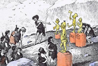 Edward Tennyson Reed 1860 1933 Prehistoric Peep Poster