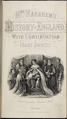 Edward Vi Granting Charter To Hospitals Poster