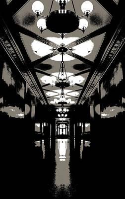 Eerie Hallway Poster by Dan Sproul