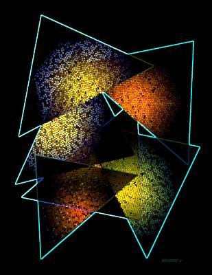 Effects Triangles Poster by Mario Perez